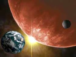 A gigantic planet will crash with Earth