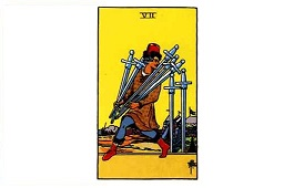 Seven of Swords Tarot card meaning