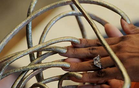 The woman with the longest nails in the world