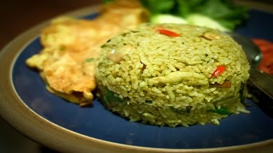 Example of how to make green rice