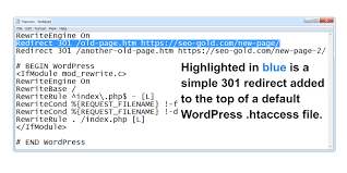Redirection 301 with .htaccess